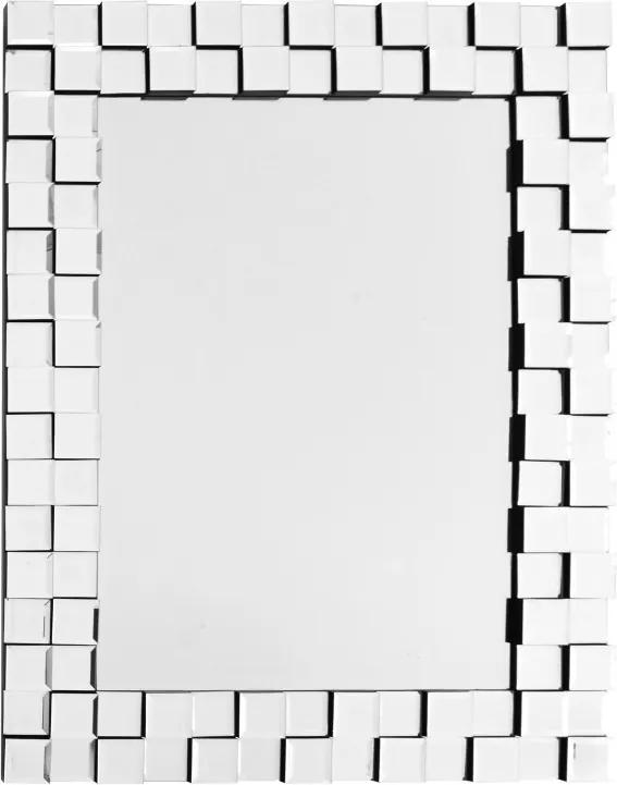 Oglinda dreptunghiulara cu rama din sticla argintie Dionysos, 2.8cm (L / D) x 65cm (l) x 85cm (H)