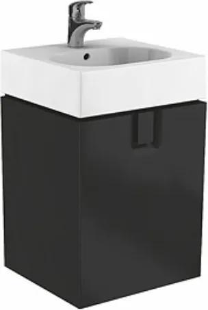 Dulap baza Kolo Twins cu 1 usa cu inchidere lenta, 60cm culoare negru mat