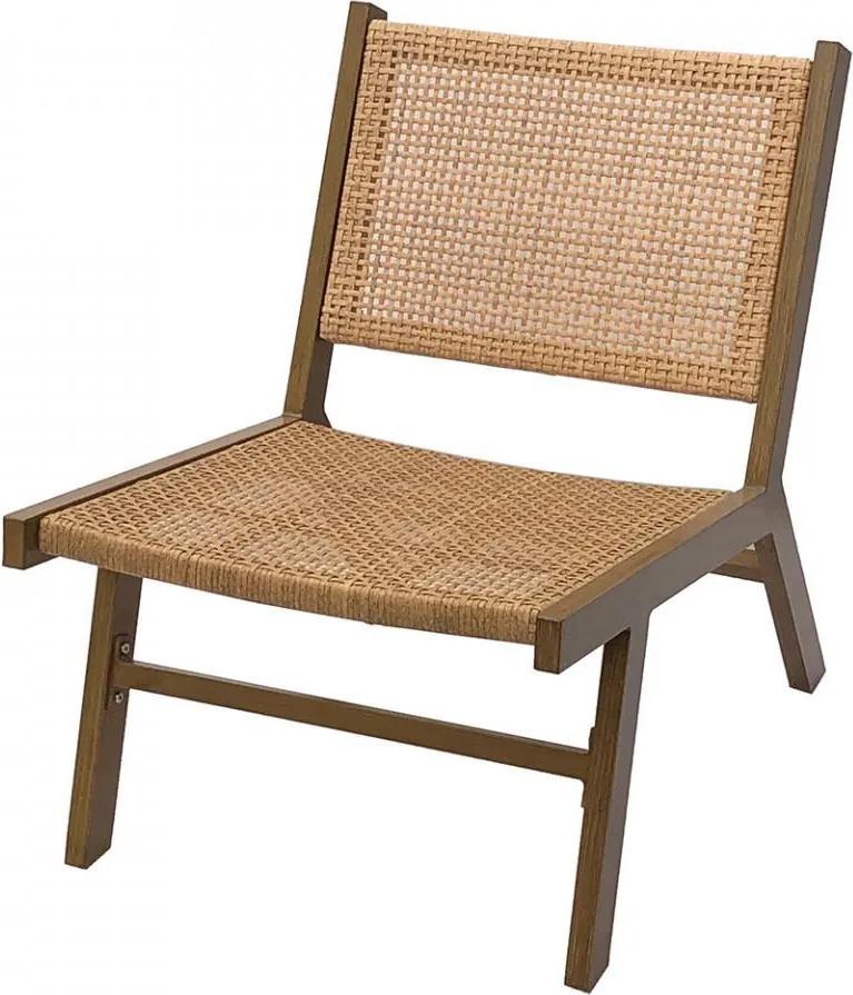 Scaun lounge maro polietilena si aluminiu Puk