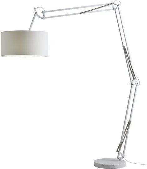 Resigilat - Lampadar reglabil Redo AZAR alb, bază marmură