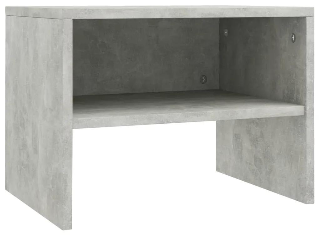 800071 vidaXL Noptieră, gri beton, 40 x 30 x 30 cm, PAL