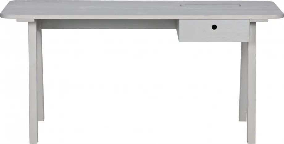 Birou din pin cu spatiu de depozitare Sammie 160 cm