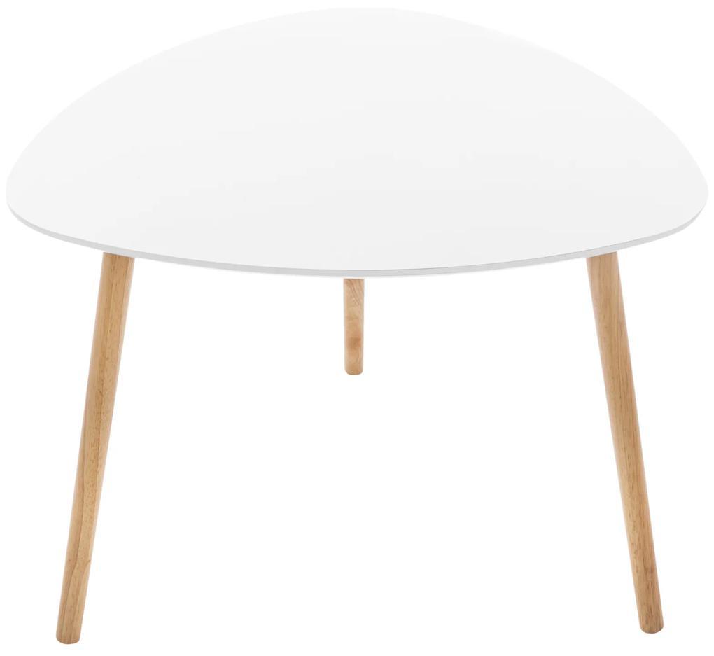 Masuta living  design modern  culoare alb  inaltime 45 cm