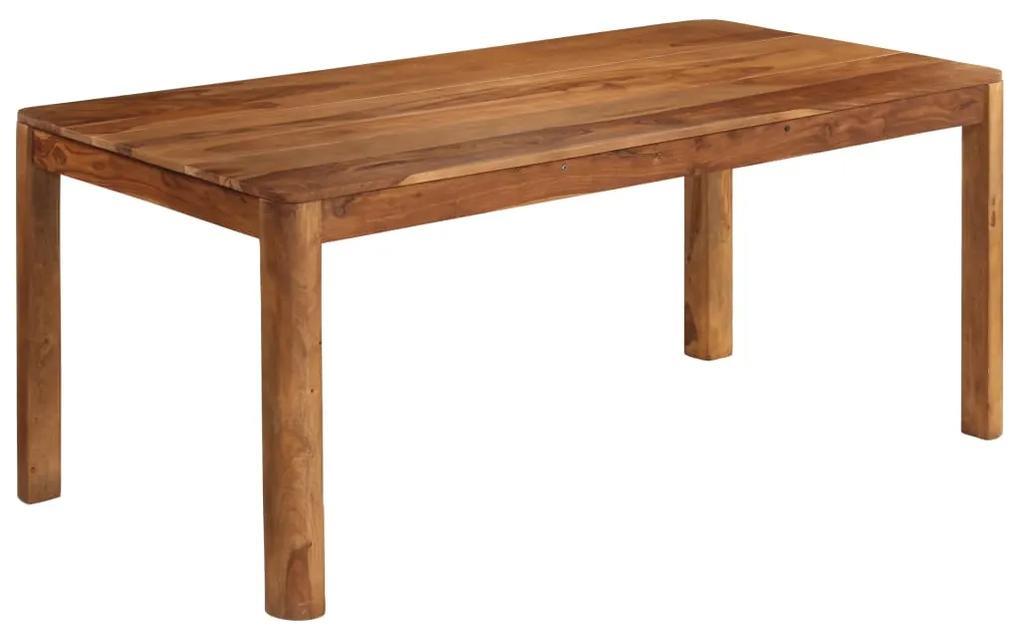 246257 vidaXL Masă de bucătărie, lemn masiv de sheesham, 180 x 90 x 76 cm