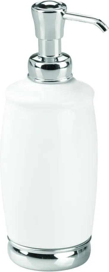 Dozator săpun iDesign York, 354 ml, alb