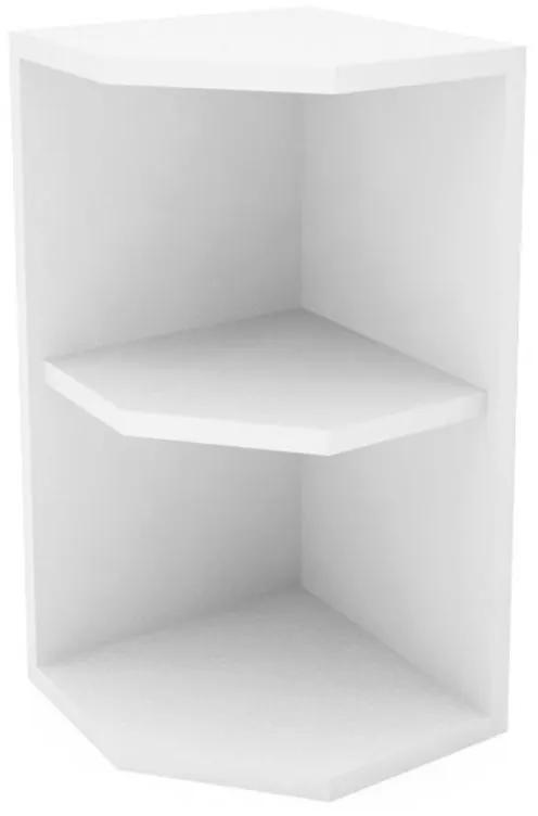 Etajera coltar suspendat, 30x28x58 cm, Alb
