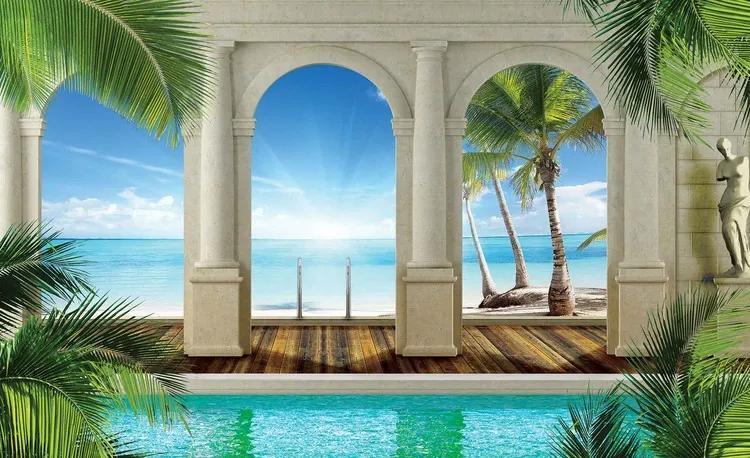Tropical Beach Fototapet, (211 x 90 cm)