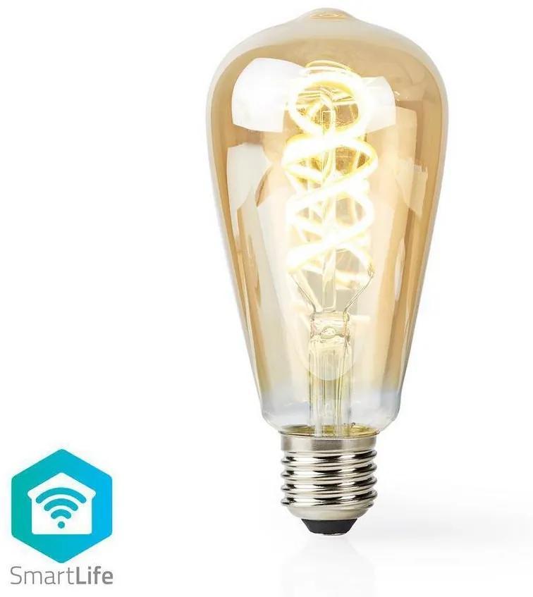 Nedis WIFILT10GDST64 − LED Dimmabil inteligent bec VINTAGE ST64 E27/5,5W/230V