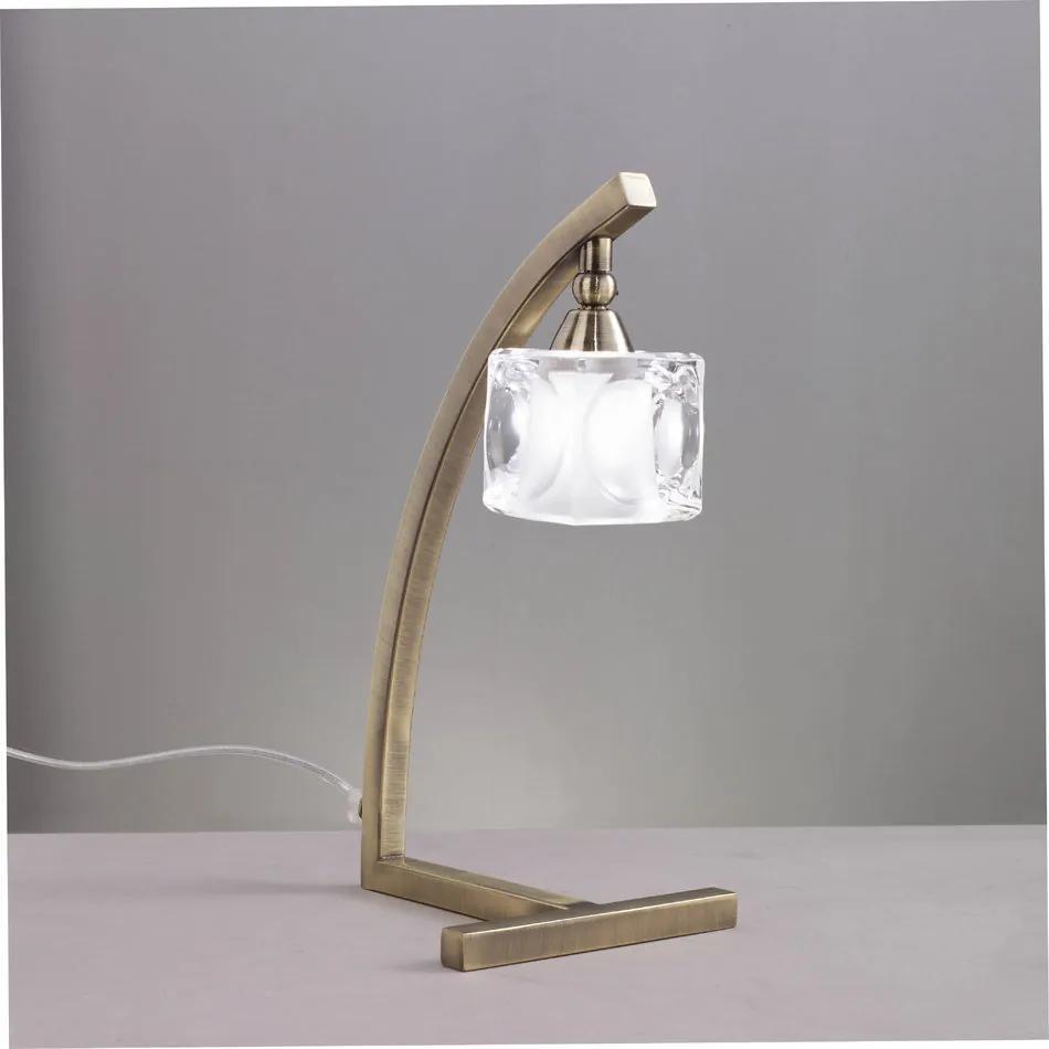 Mantra CUADRAX 0994 Veioze, Lampi de masă alama 1xG9 max. 33 W 15x35 cm