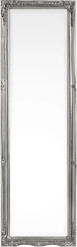 Oglinda decorativa perete cu rama lemn Paulownia argintiu Miro 36 cm x 3 cm x 126 h