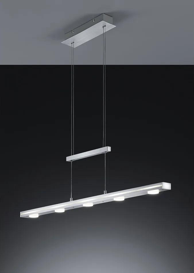 Trio 379090505 Pendule LED CAVALLO Aluminiu periat aluminiu incl. 5 x SMD, 4,5W, 3000K, 430Lm 430lm 3000K IP20
