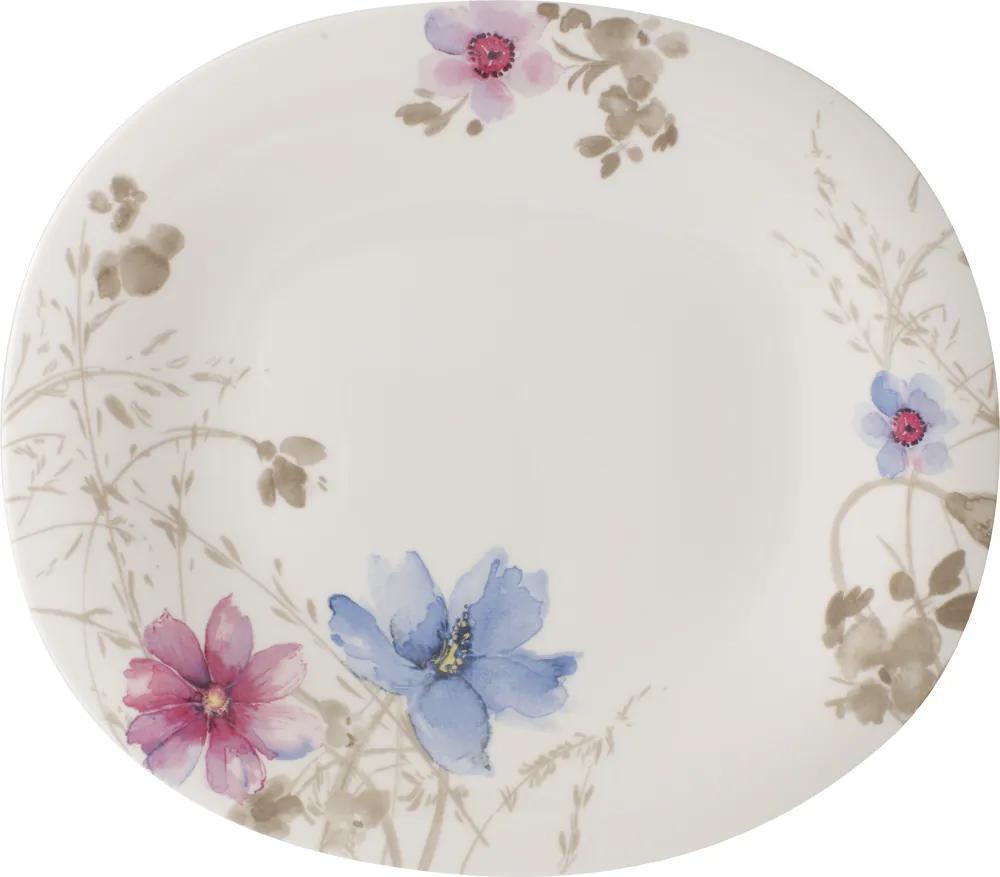 Farfurie ovală întinsă, colecția Mariefleur Gris Basic - Villeroy & Boch