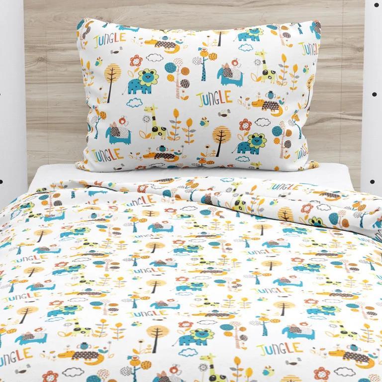 Goldea lenjerie de pat din bumbac pentru copii - model 489 140 x 200 și 70 x 90 cm