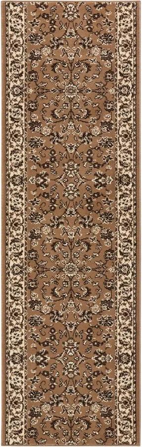 Covor Basic Vintage, 80x500 cm, maro deschis