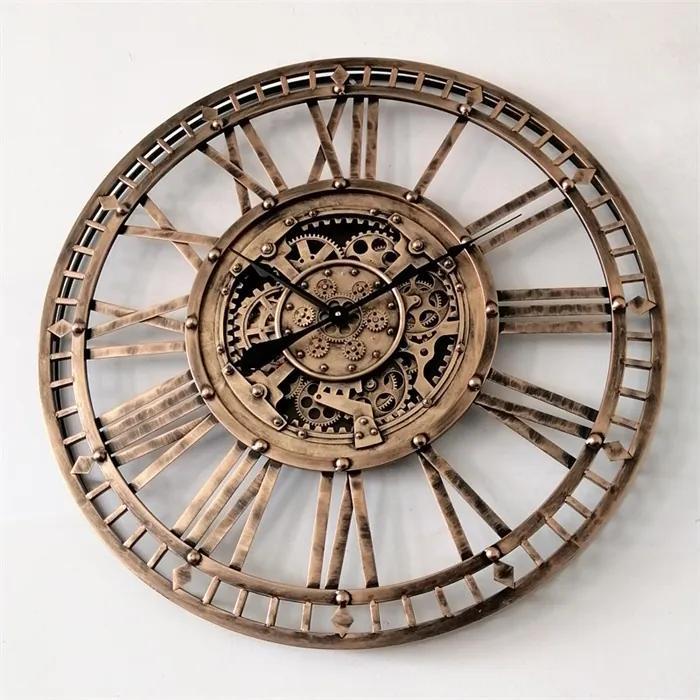 Ceas de perete cu mecanism bronz 90cm