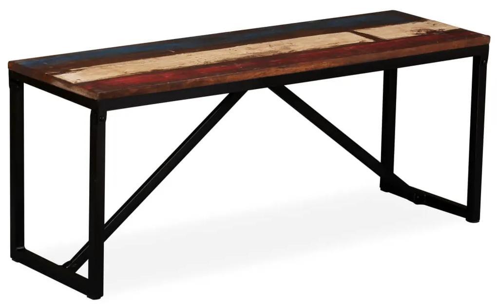 244901 vidaXL Bancă din lemn masiv reciclat, 110 x 35 x 45 cm