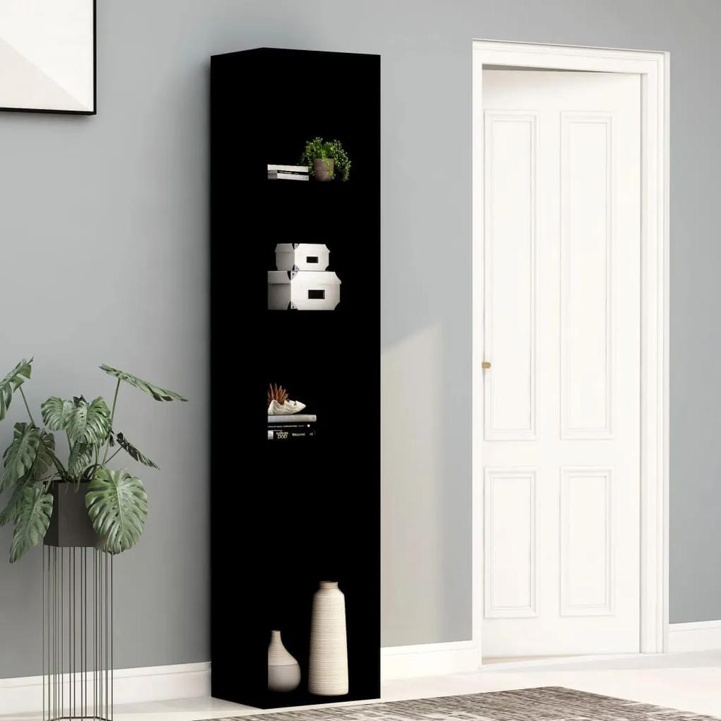 800955 vidaXL Bibliotecă, negru, 40 x 30 x 189 cm, PAL