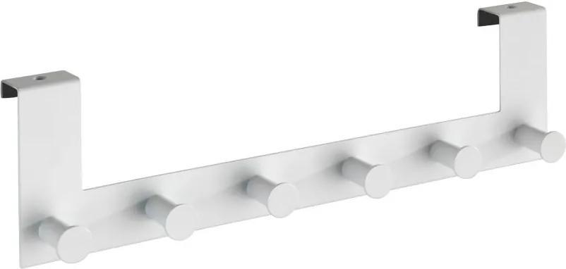 Cuier suspendat pentru ușă cu 6 cârlige Wenko Celano, alb