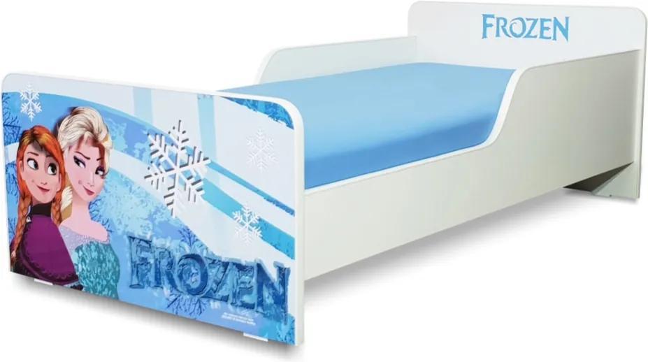 Pat copii  Frozen 2-12 ani cu saltea cadou