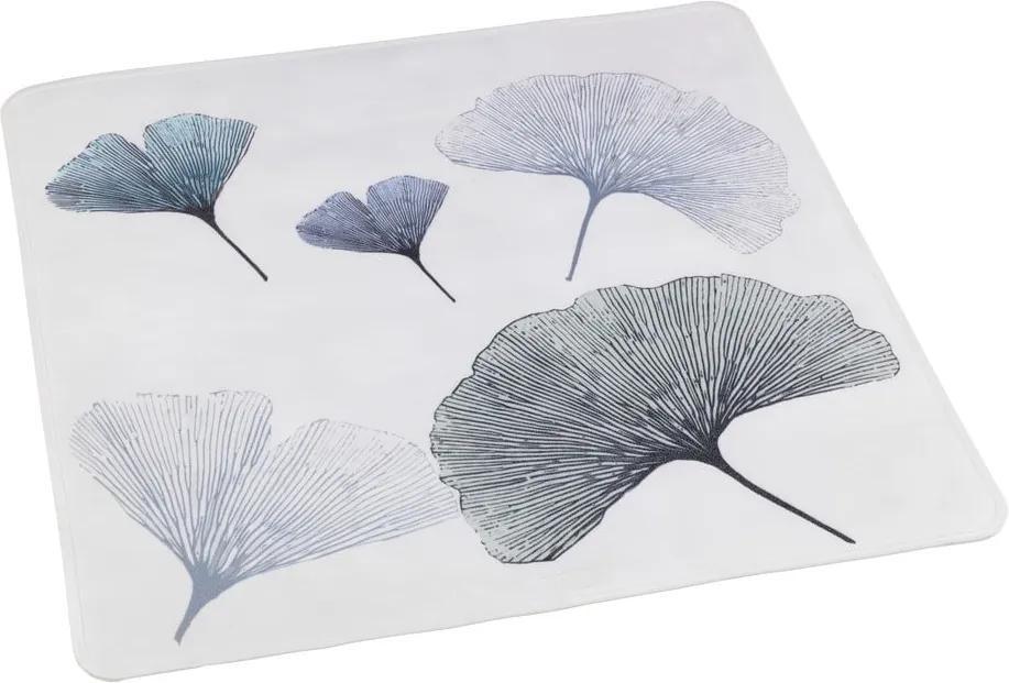 Suport pentru cabina de duș Wenko Ginkgo, 54 x 54 cm, alb - albastru