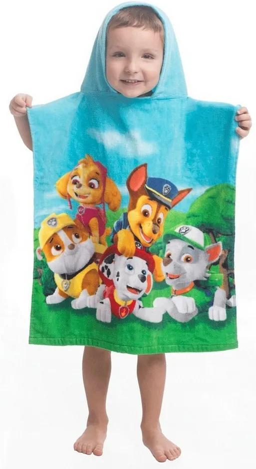 Poncho Jerry Fabrics Paw Patrol 159, pentru copii, 55 x 115 cm