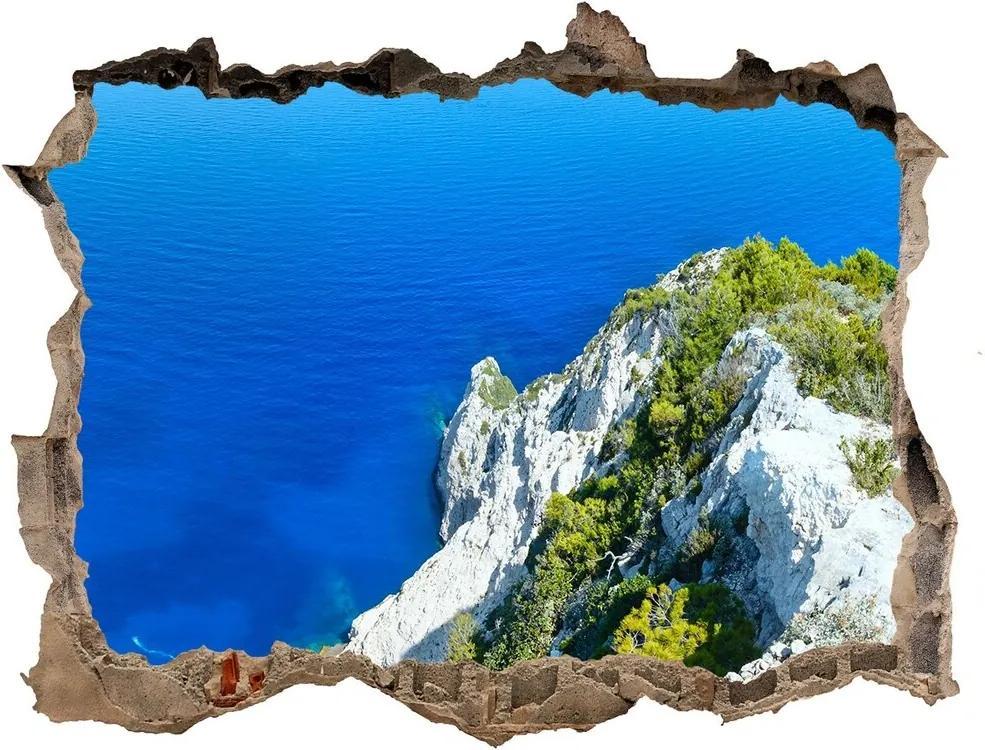 Autocolant 3D gaura cu priveliște Zakynthos grecia