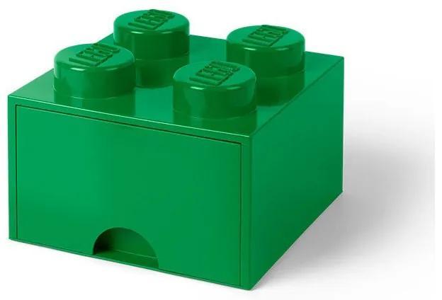 LEGO - Cutie depozitare 2x2 cu sertar, Verde