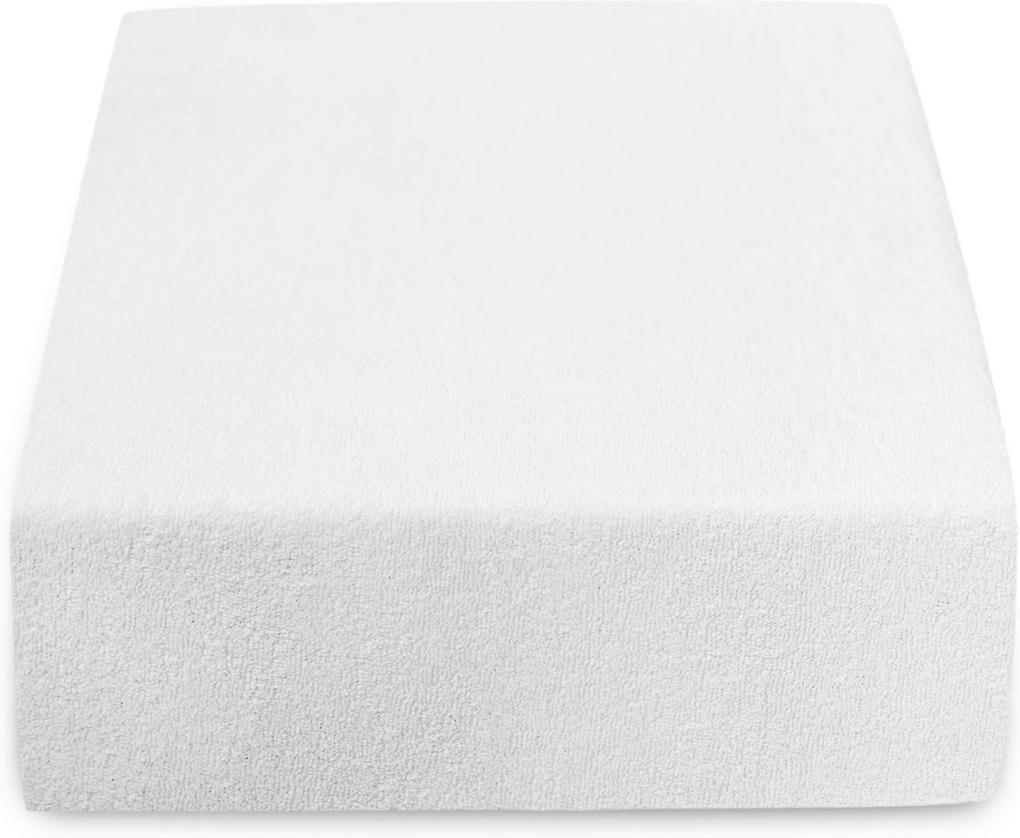 Cearșaf Terry 90x200 cm alb Gramaj (densitatea fibrelor): Lux (190 g/m2)