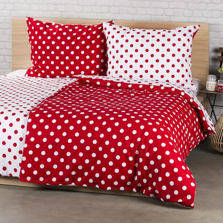 Lenjerie de pat 4Home din bumbac Buline roșii, 140 x 220 cm, 70 x 90 cm, 140 x 220 cm, 70 x 90 cm