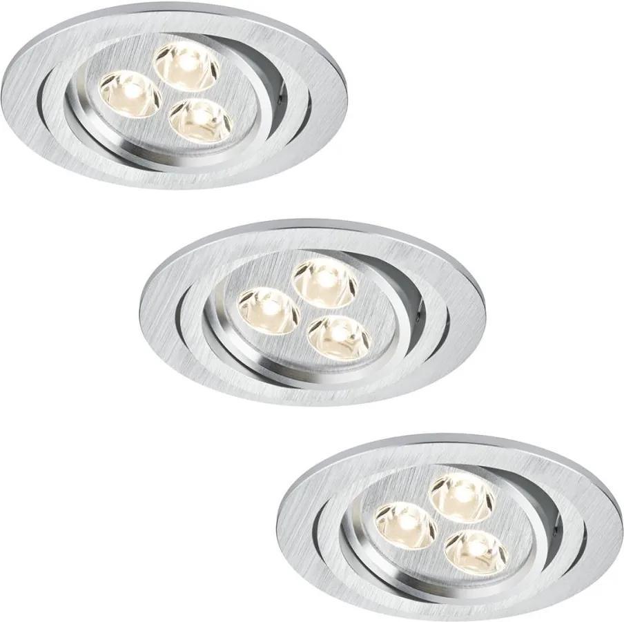 Paulmann 92530 - SET 3x LED lampă încastrată PREMIUM LINE 3xLED/3W/230V