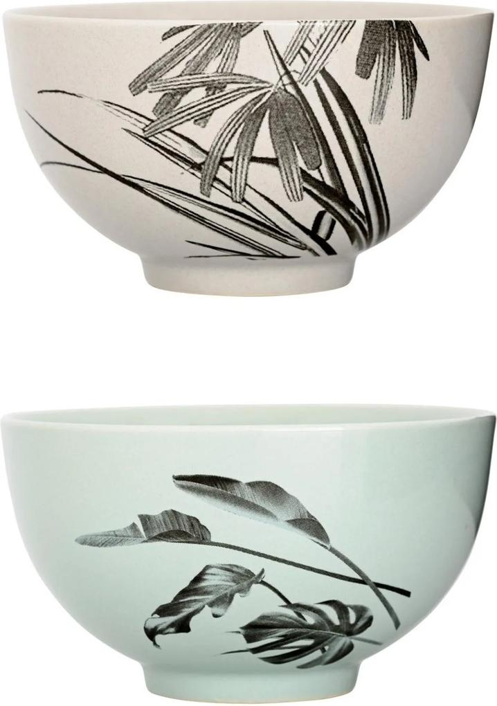 Set 2 Boluri Sooji, Multicolor, Ceramica Ø11,5x6,5 cm