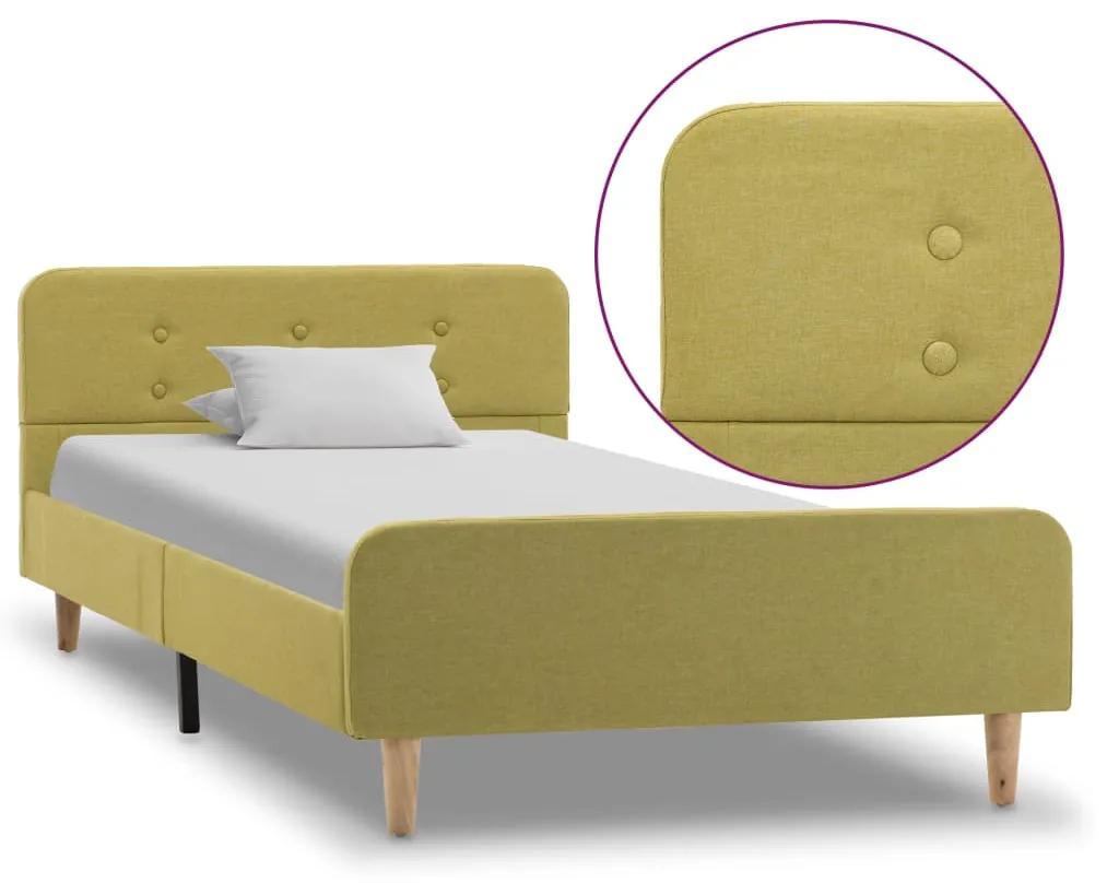 284912 vidaXL Cadru de pat, verde, 90 x 200 cm, material textil