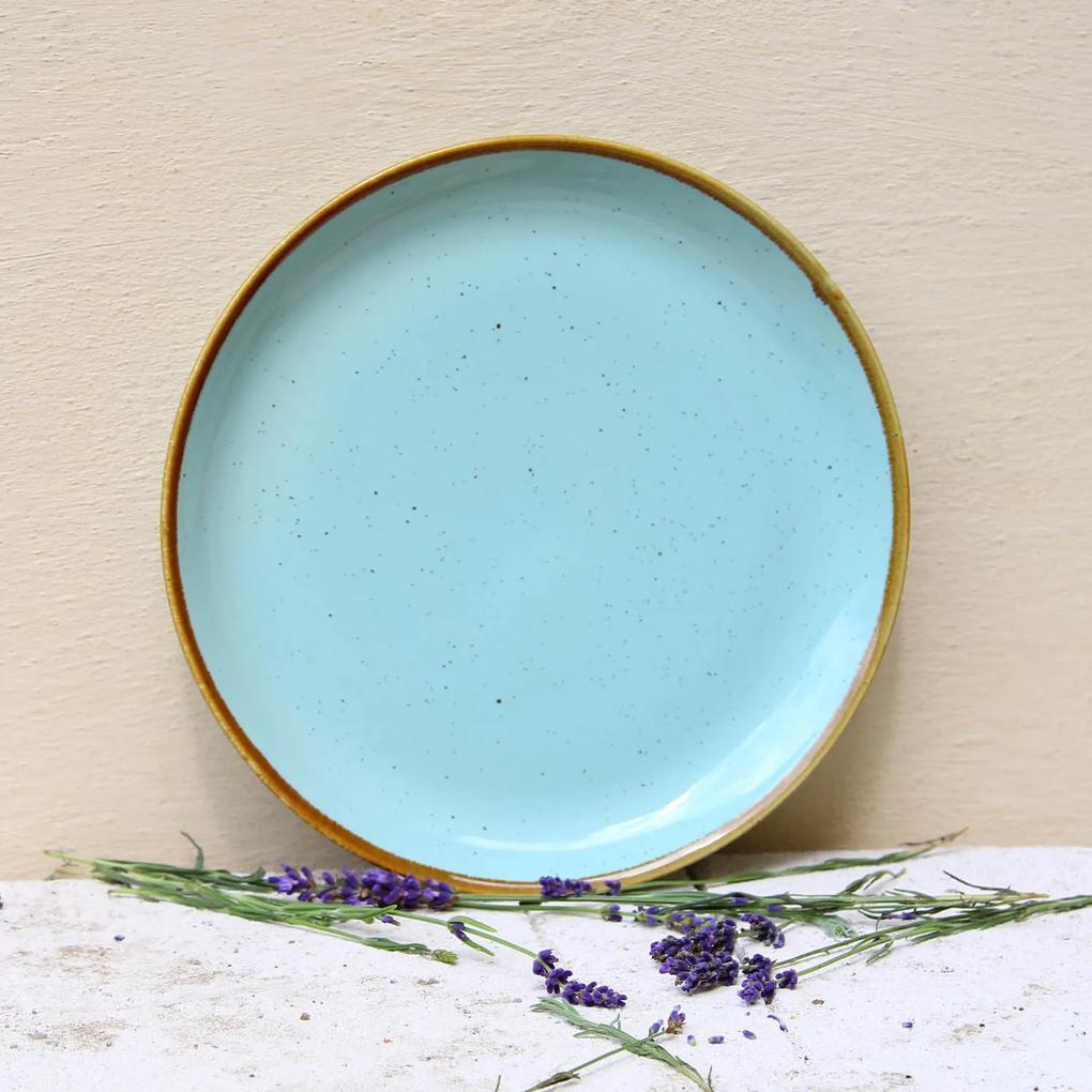 Farfurie intinsa Gardena din ceramica turcoaz 24 cm