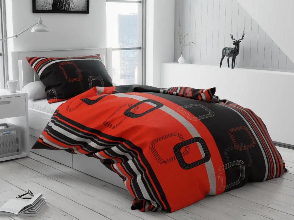 Petr Smolka Lenjerie de pat creponată Tonda rosie Dimensiune lenjerie de pat: 70x90 cm, 140x200 cm