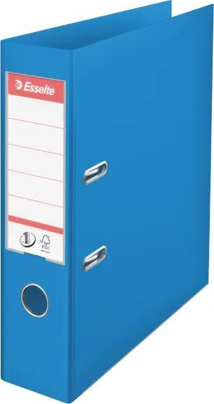 Biblioraft plastifiat ESSELTE 7.5cm albastru vivida standard