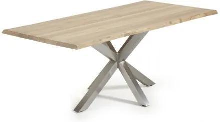 Masa Dining ARYA 220x100cm otel mat/ stejar albit