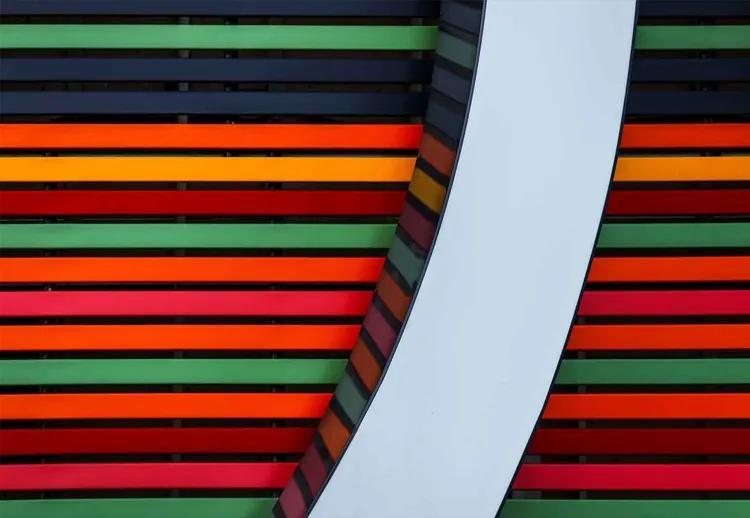 Colour Stripes Fototapet, (368 x 254 cm)