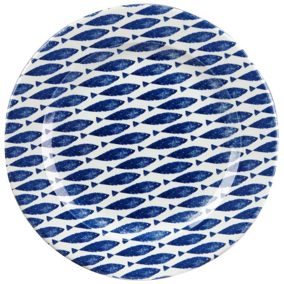 Farfurie din ceramică Churchill China Fishie Blue, ⌀ 30