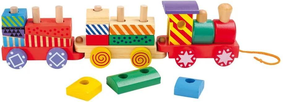 Tren din lemn Legler Bright Colours