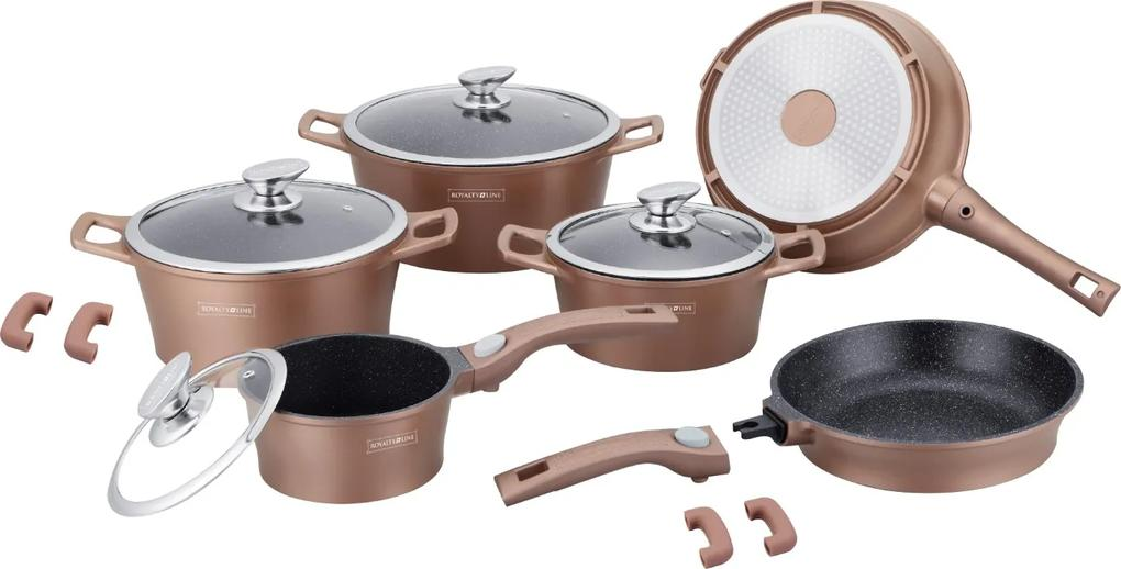 Set oale marmorate copper Royaly Line ES 2014M 14 piese