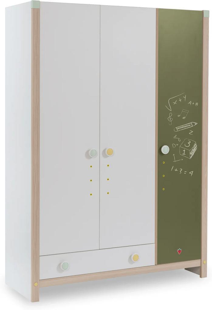 Dulap din PAL cu 3 usi Montessori 139x199x56 cm