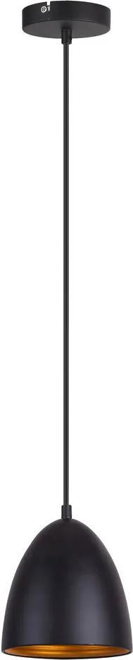 Rábalux Nella 3939 Pendul cu 1 braț negru E27 1X MAX 60W Ø160 mm