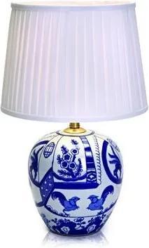 Veioza ceramica cu detalii albastre 30.5x48cm Göteborg Markslojd