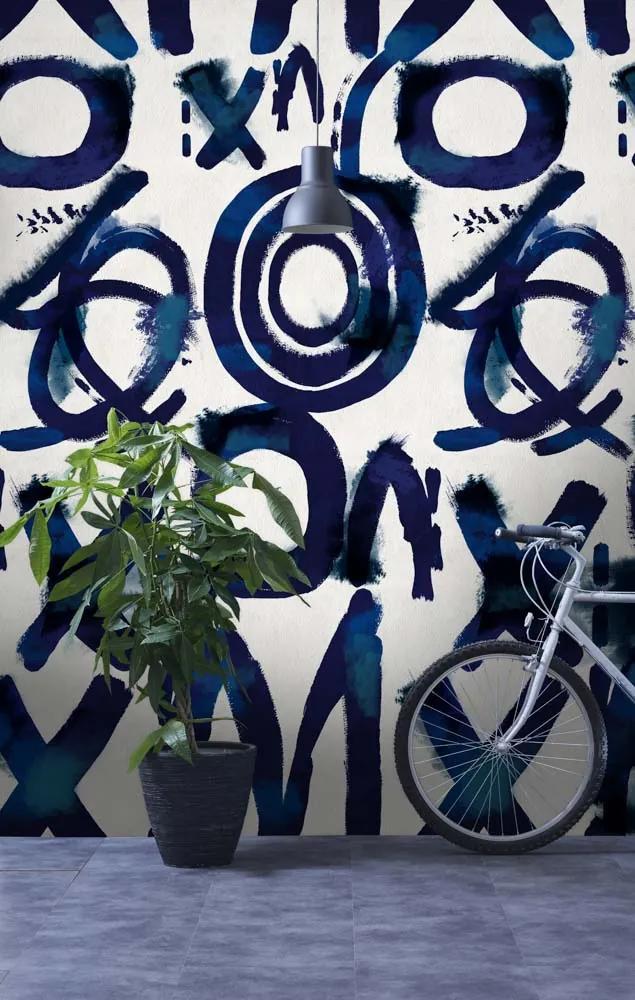 MINDTHEGAP Tapet - Spontaneus Blue