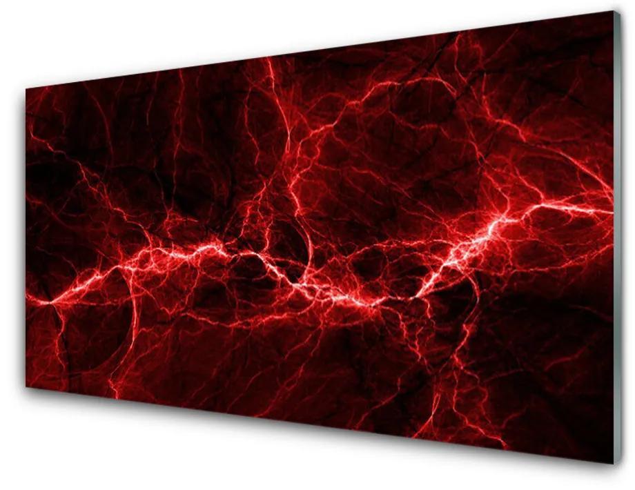 Tablou pe sticla acrilica Abstract Art Red