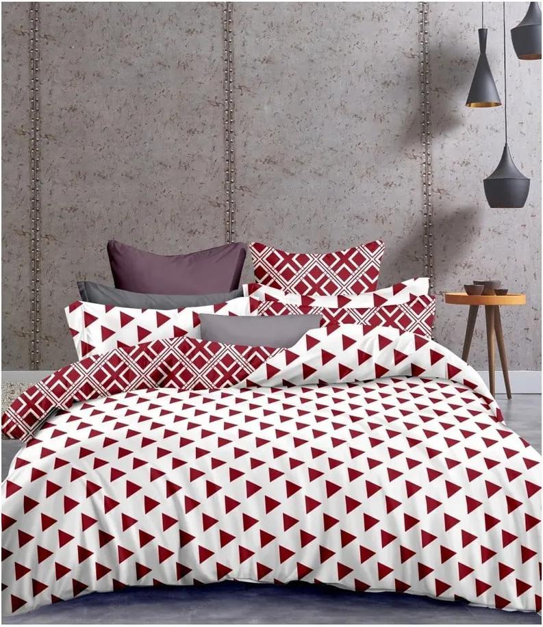 Lenjerie de pat din microfibră pentru pat de 1 persoană DecoKing Hypnosis Triangle Field, 135 x 200 cm
