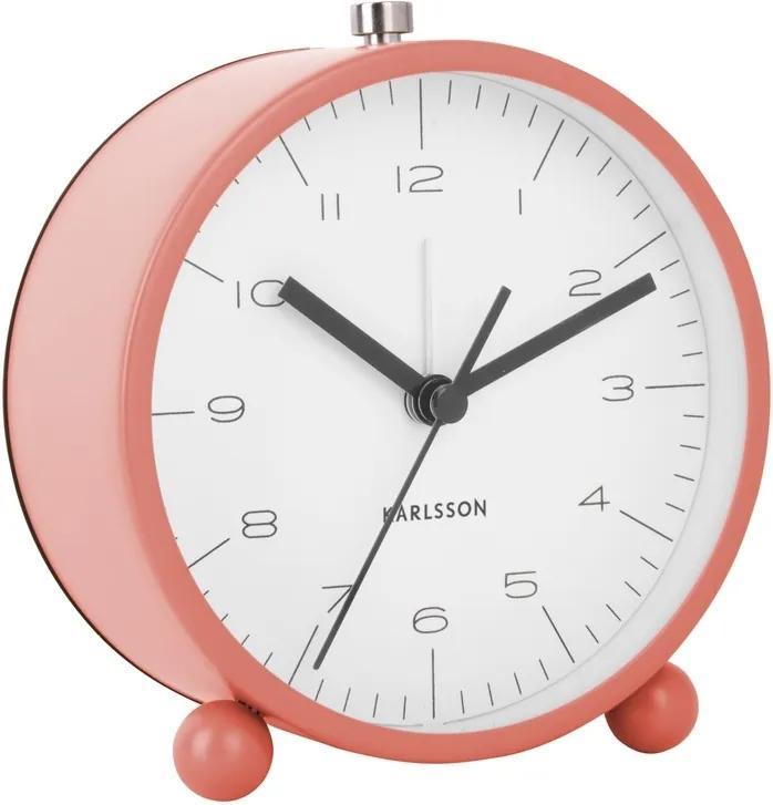 Ceas deșteptător de design Karlsson KA5787CP, 11 cm