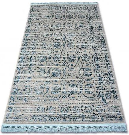 Covor acril Manyas 193AA gri și albastru Franjuri 80x150 cm