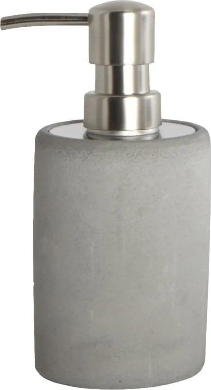 Recipient pentru Sapun Lichid din Beton CEMENT - Beton Gri Diametru (7.6 cm) Inaltime 17.1 cm)
