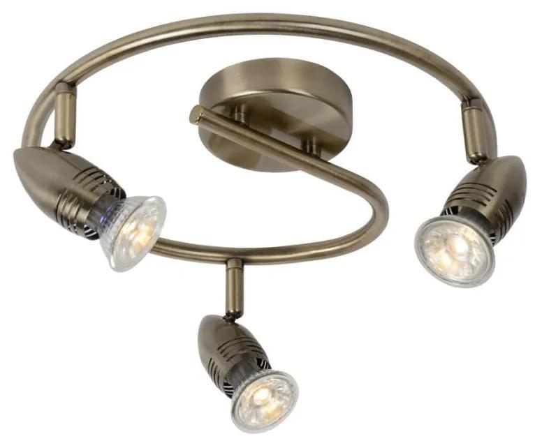 Lucide 13955/14/03 - Lampa spot LED CARO-LED 3xGU10/5W/230V bronz